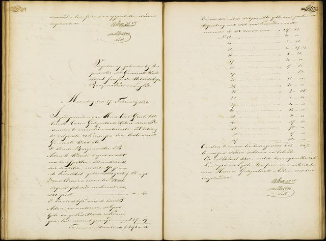 Wouw: Notulen gemeenteraad, 1813-1996 1832