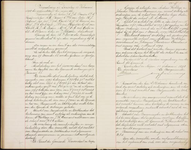 Roosendaal: Notulen gemeenteraad, 1851-1917 1898