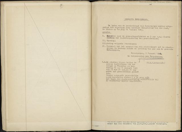 Zevenbergen: Notulen gemeenteraad, 1930-1996 1949-01-01