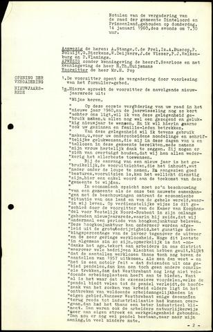 Dinteloord: Notulen gemeenteraad, 1946-1996 1960