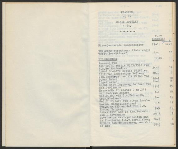 Steenbergen: Notulen gemeenteraad, 1920-1996 1963-01-01