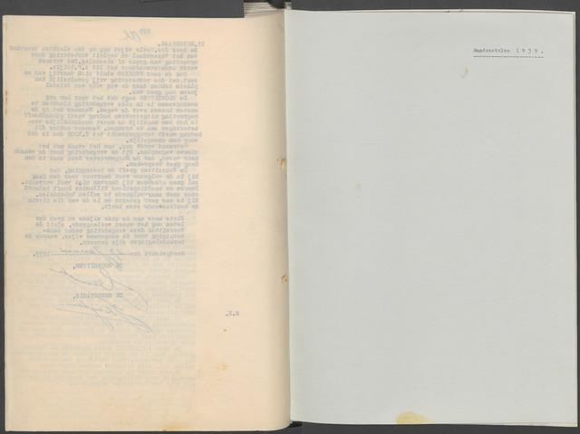 Etten-Leur: Notulen gemeenteraad, 1936-1979 1939-01-01