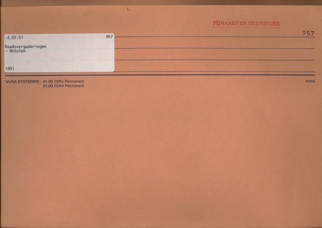 Fijnaart en Heijningen: notulen gemeenteraad, 1934-1995 1991