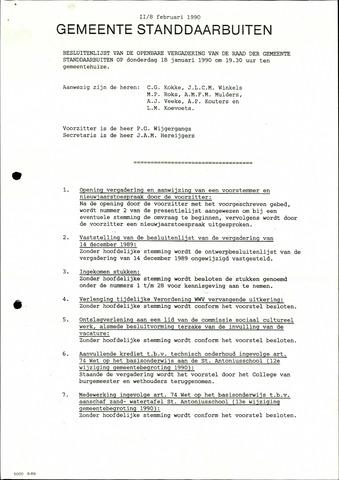 Standdaarbuiten: Notulen gemeenteraad, 1937-1996 1990-01-01