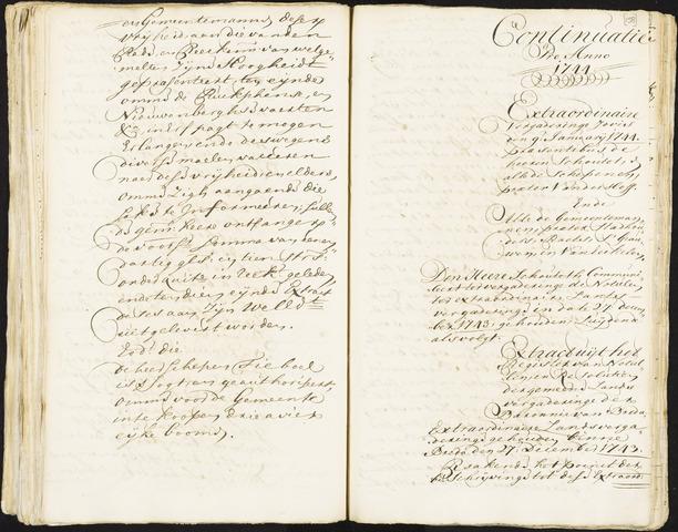 Roosendaal: Registers van resoluties, 1671-1673, 1675, 1677-1795 1744