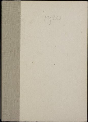 Roosendaal: Notulen gemeenteraad, 1916-1999 1980