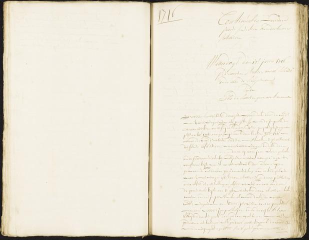Roosendaal: Registers van resoluties, 1671-1673, 1675, 1677-1795 1716