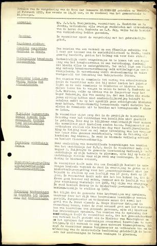 Rijsbergen: Notulen gemeenteraad, 1940-1996 1955