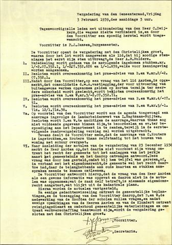 Standdaarbuiten: Notulen gemeenteraad, 1937-1996 1939-01-01