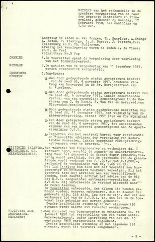 Dinteloord: Notulen gemeenteraad, 1946-1996 1958