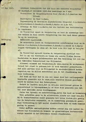 Willemstad: Notulen gemeenteraad, 1927-1995 1945-01-01