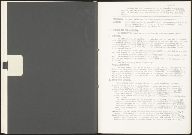 Standdaarbuiten: Notulen gemeenteraad, 1937-1996 1959-01-01
