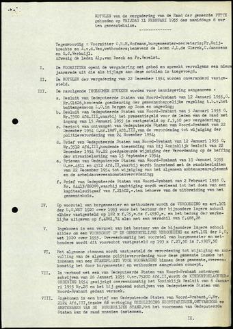 Putte: Notulen gemeenteraad, 1928-1996 1955-01-01