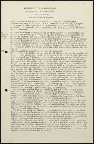 Oud en Nieuw Gastel: Notulen gemeenteraad, 1938-1980 1954-01-01