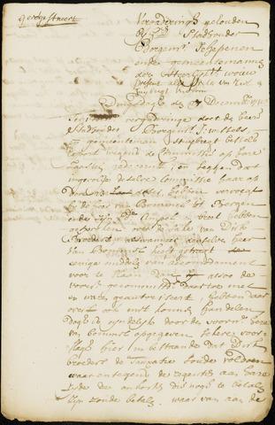 Wouw: Minuten van resoluties, 1710-1729 1718