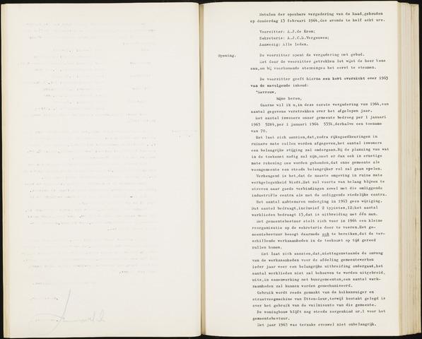 Hoeven: Notulen gemeenteraad, 1928-1996 1964-01-01