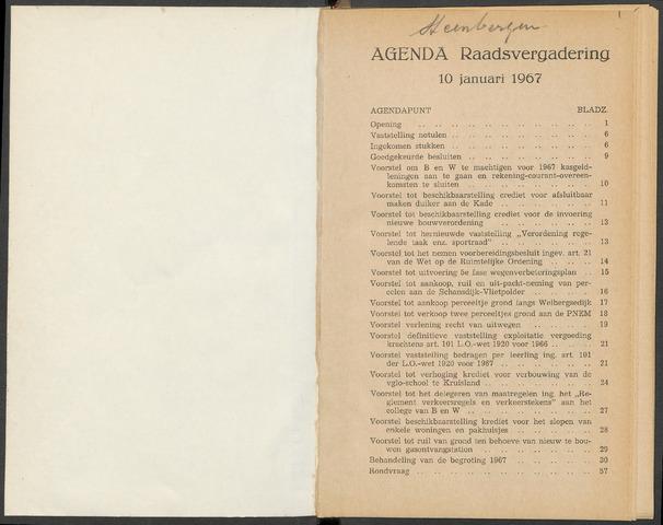 Steenbergen: Notulen gemeenteraad, 1920-1996 1967-01-01