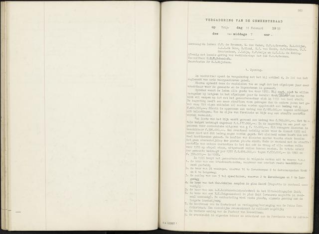 Zevenbergen: Notulen gemeenteraad, 1930-1996 1955-01-01