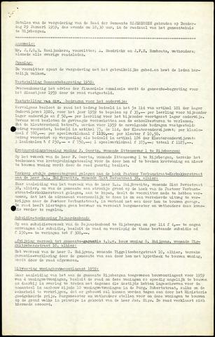 Rijsbergen: Notulen gemeenteraad, 1940-1996 1959
