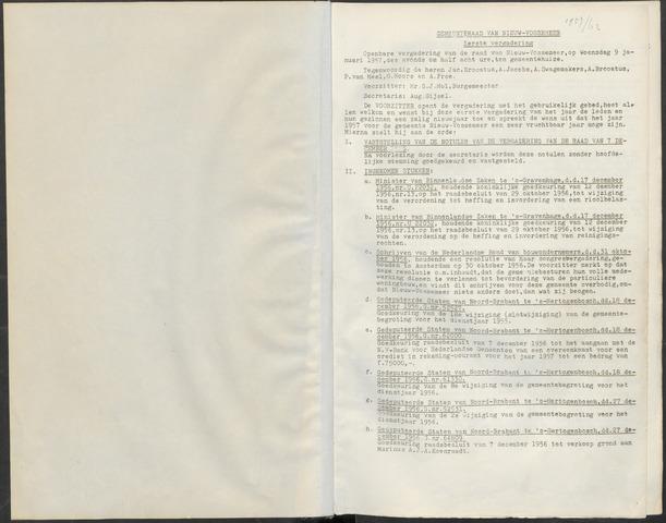 Nieuw-Vossemeer: Notulen gemeenteraad, 1957-1996 1957-01-01