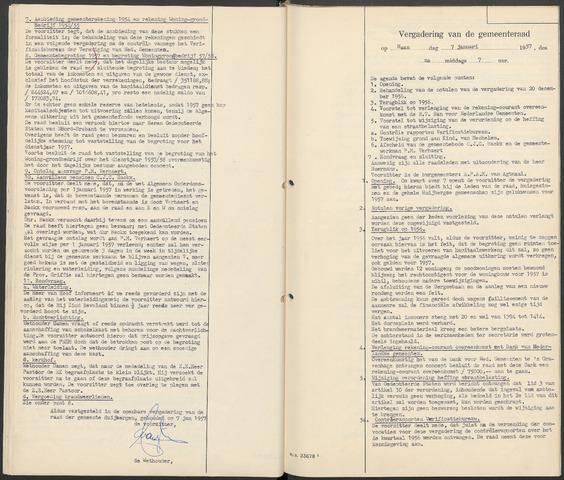 Huijbergen: Notulen gemeenteraad 1935-1996 1957-01-01