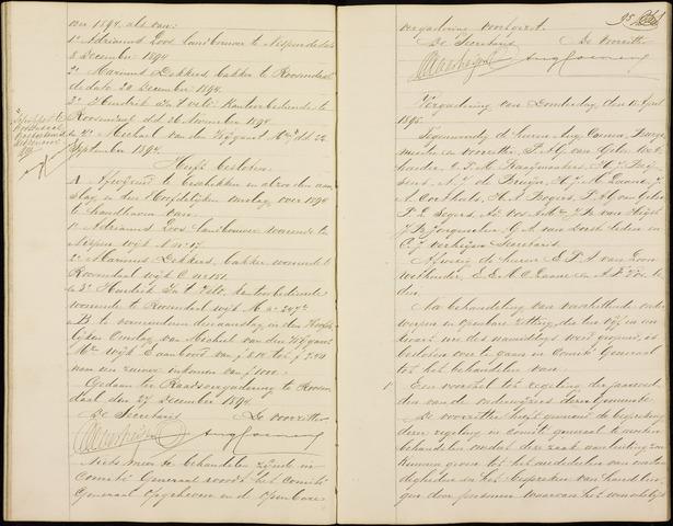 Roosendaal: Notulen gemeenteraad (besloten), 1851-1916 1895