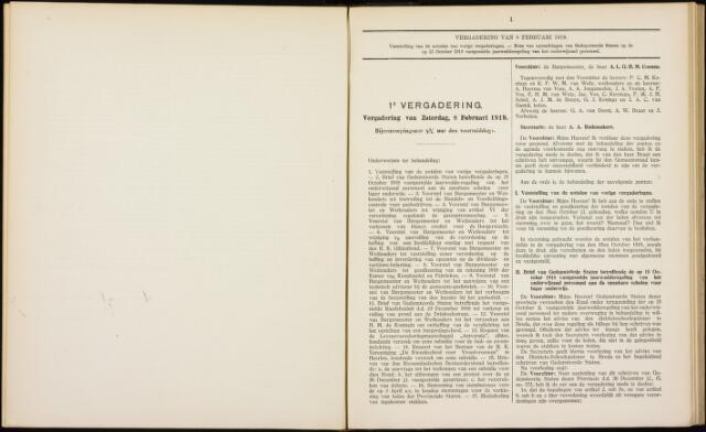 Roosendaal: Notulen gemeenteraad, 1916-1999 1919
