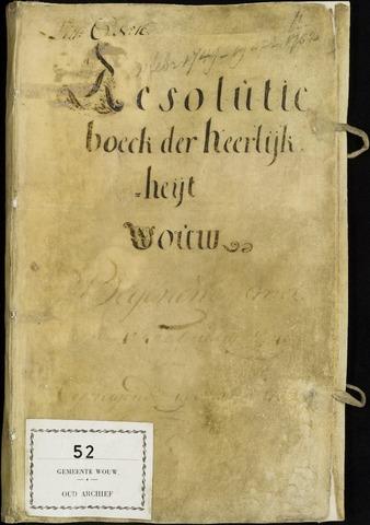 Wouw: Registers van resoluties, 1593-1811 1749