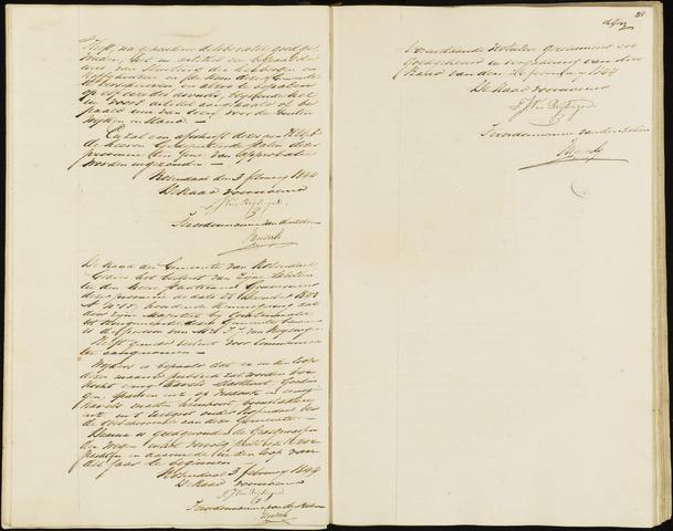 Roosendaal: Notulen, 1830-1851 1844