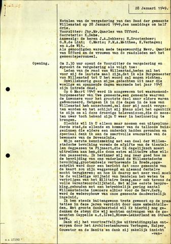 Willemstad: Notulen gemeenteraad, 1927-1995 1949-01-01