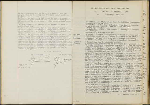 Oud en Nieuw Gastel: Notulen gemeenteraad, 1938-1980 1949-01-01