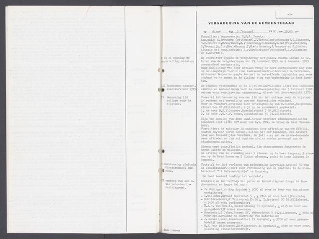 Rucphen: Notulen gemeenteraad, dec. 1949-1998 1980-01-01
