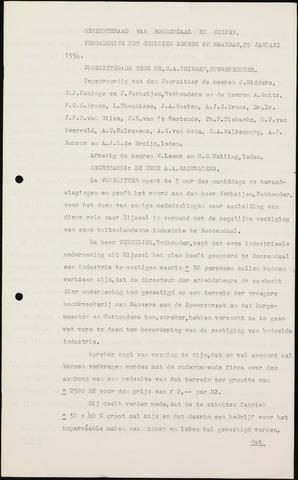 Roosendaal: Notulen gemeenteraad (besloten), 1919-1935 1934