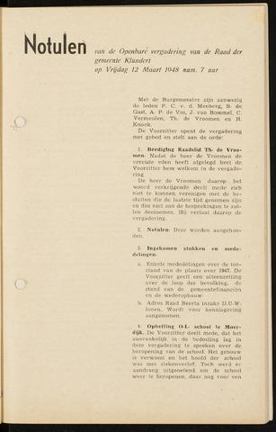 Klundert: Notulen gemeenteraad, mei 1933-1996 1948