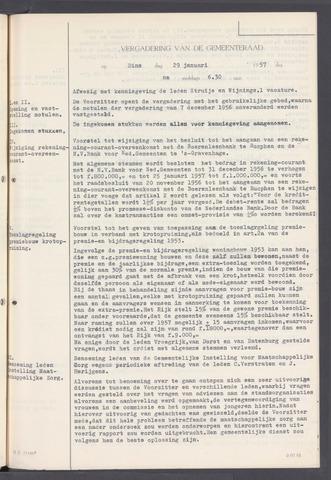 Rucphen: Notulen gemeenteraad, dec. 1949-1998 1957-01-01