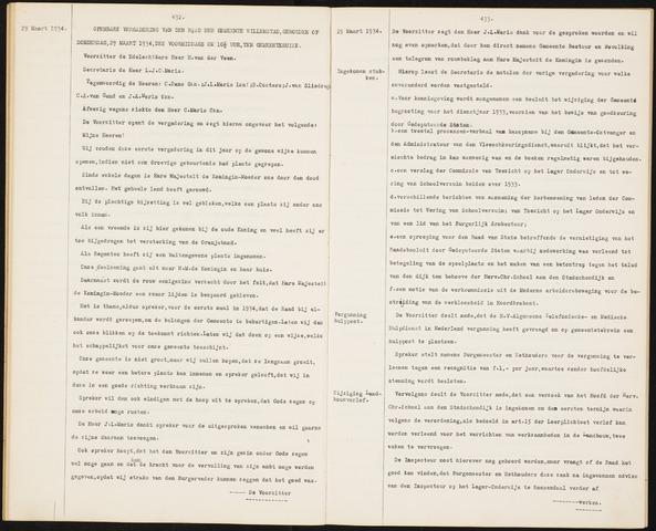 Willemstad: Notulen gemeenteraad, 1927-1995 1934-01-01