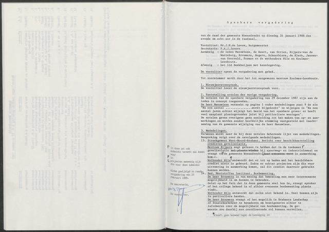 Woensdrecht: Notulen gemeenteraad, 1922-1996 1988-01-01