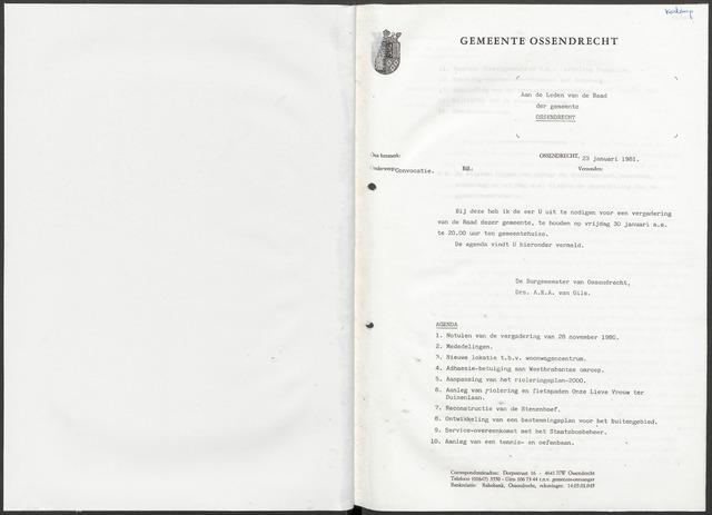 Ossendrecht: Notulen gemeenteraad, 1920-1996 1981