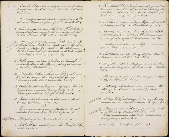 Roosendaal: Inhoudsopgaven notulen, 1849-1903 1896