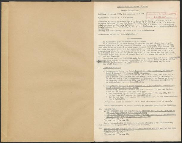 Bergen op Zoom: Notulen gemeenteraad, 1926-1996 1957-01-01