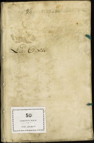 Wouw: Registers van resoluties, 1593-1811 1737
