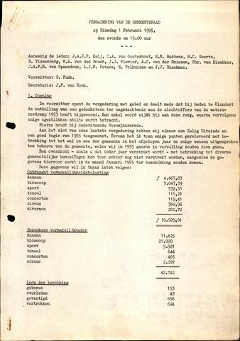 Oudenbosch: Notulen gemeenteraad, 1939-1994 1955-01-01