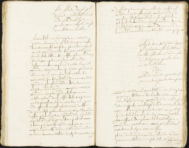 Roosendaal: Registers van resoluties, 1671-1673, 1675, 1677-1795 1722