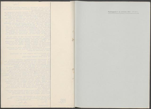 Etten-Leur: Notulen gemeenteraad, 1936-1979 1951-01-01