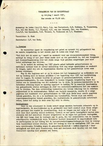 Oudenbosch: Notulen gemeenteraad, 1939-1994 1957-01-01