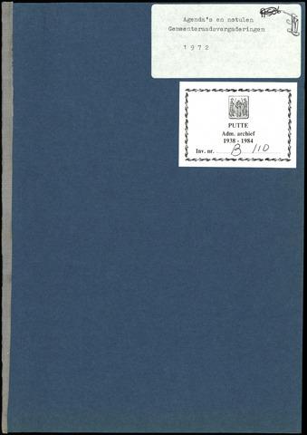 Putte: Notulen gemeenteraad, 1928-1996 1972-01-01