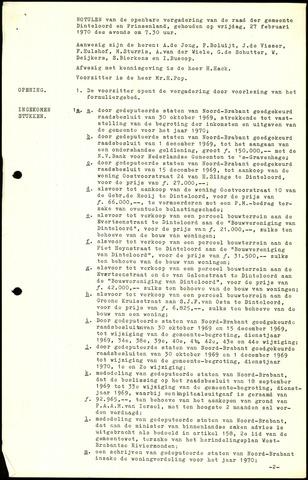 Dinteloord: Notulen gemeenteraad, 1946-1996 1970