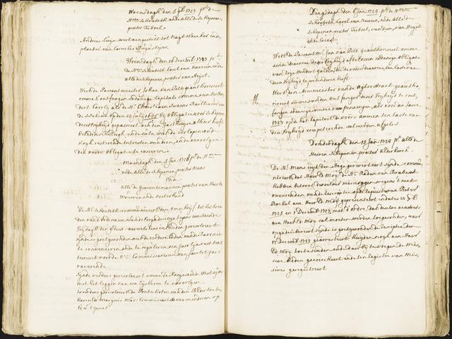 Roosendaal: Registers van resoluties, 1671-1673, 1675, 1677-1795 1728