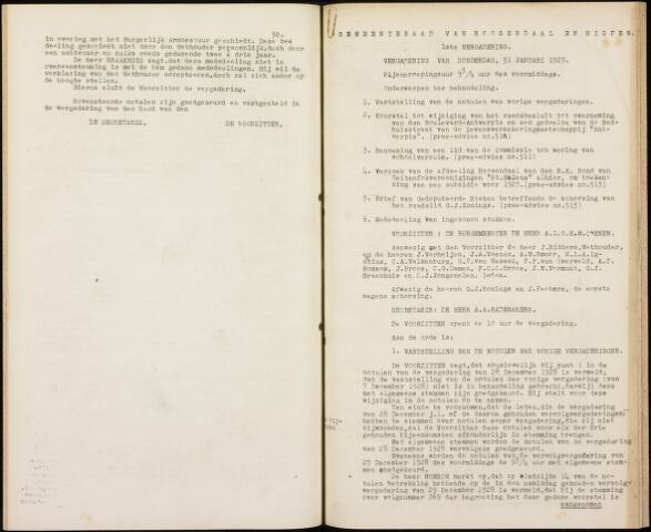 Roosendaal: Notulen gemeenteraad, 1916-1999 1929