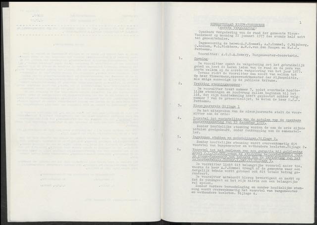 Nieuw-Vossemeer: Notulen gemeenteraad, 1957-1996 1973-01-01
